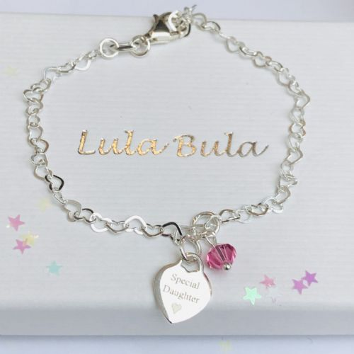 1st birthday  gift bracelet for a special girl - FREE ENGRAVING